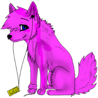 Wolf with i pod by RebeccaM98