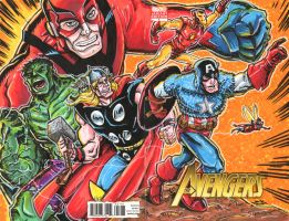 Avengers Sketch Cover by johnraygun