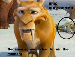 Ice age 4 PHOTOBOMB!! XD by Galaxywarriess1234