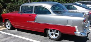 1955 Chevy Bel-Air  (side angle) by Adriellovesart