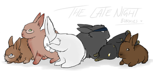 The Late Night Bunnies by lunast