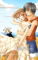 luffy x nami by bleach-and-others