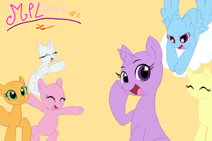 MLP base n2 - The Mane six ( do in MS Paint) by FlyingStar34