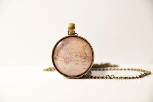 old map pendant by yiea