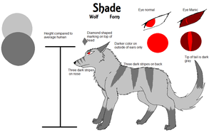 Shade Wolf Form Ref Sheet by DraconaVampira