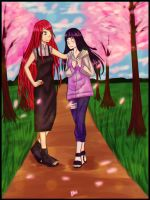 Commission for Lawman09 : Kushina and Hinata by Ego-chan