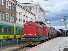 Floyd Faur with a freight train in Gyor on 2010 by morpheus880223