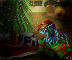 Merry Christmas Rainbow Dash by CalebP1716