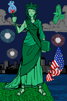Lady Liberty by The4thSnake