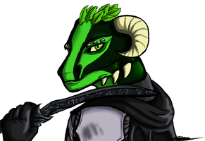 Jik the Master Thief Argonian by Daft--Art