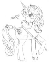 Peppermint Pony Commish Sketch by YamPuff