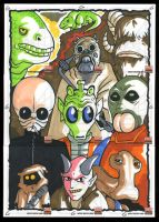SWG5 Sketch Cards: 9-parter by grantgoboom