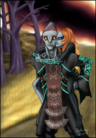 AT-Zant and Midna piggyback by Gingerscoffee