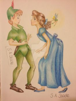 Peter Pan and Wendy by SASteelsy