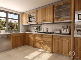 Kitchen Interior by voodoo-butta