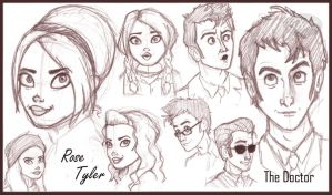 The Doctor and Rose by HArt1