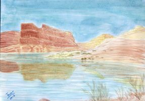Water Color landscape 3 by GhostHead-Nebula