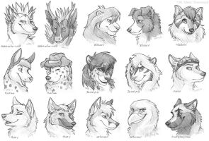 $5 Headshot Sketches Group 4 by Idess