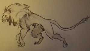 Lion Anthro by charcoal-almighty
