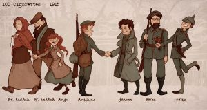 100 Cigarettes - Characters in 1915 by trenchWeasel