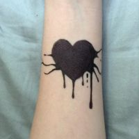 Dripping Heart Pen Tatoo by Angie-Andrea