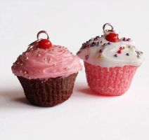NEW Homemade Cupcake Charms by FatallyFeminine