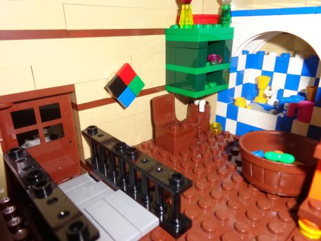 Custom Made Lego Howl's Moving Castle Door Shot by PCamenzind