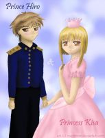 Prince Hiro and Princess Kisa by MapleRose