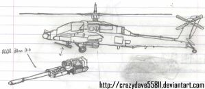 AH-64A Apache by CrazyDave55811
