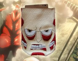 Attack on titan inspired phone sleeve by EvilYuki
