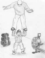 Weight training by bithartist