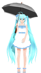 - MMD NC - Blue Plaid MIku by NoUsernameIncluded