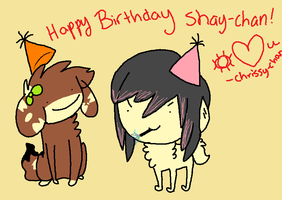 HAPPY BIRTHDAY SHAY!! by flowerdeers