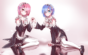 Ram and Rem by Soreider