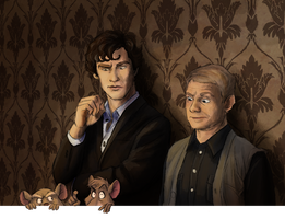 Lets Draw Sherlock Piece by Atarial