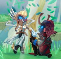 Spiral Knights - Tevokkia and Sol-Ether by WhitePhox