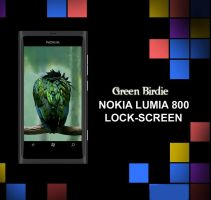 Nokia Lumia 800 Wallpaper : Green Birdie by bladerahul