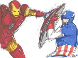 Ironman vs Captain America by EdoMame