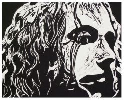 She's Mine Lino Print by battmanfield