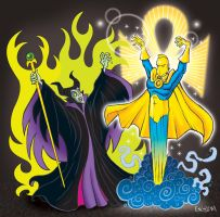 Maleficent vs. Dr. Fate by mengblom