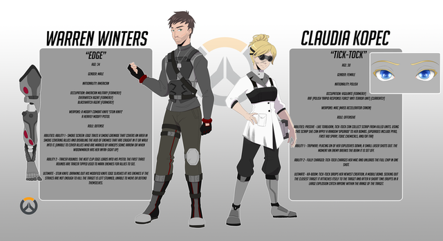 Warren and Claudia, Overwatch OCs by george3222