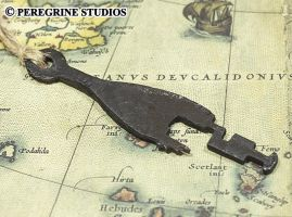 Antique Viking Key Recreation - Hand-Cast Pewter by PeregrineStudios