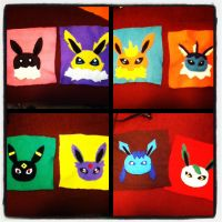 Eevee Evolution Throw WIP by chkimbrough