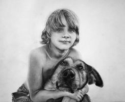 The boy and his dog by eMeMas