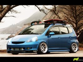 Honda Fit::Hellaflush by daveezdesign
