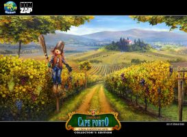 Death at Cape Porto: Vineyards by Wolfie-chama