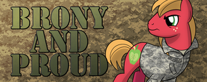 Brony and Proud Military Design by drawponies