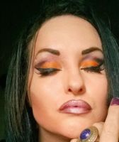 halloween  makeup idea-pumpkin spice by L-A-Addams-Art