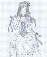 Some girl on graph paper.. by cyndragons