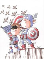 Captain America and Bucky by AgnesGarbowska